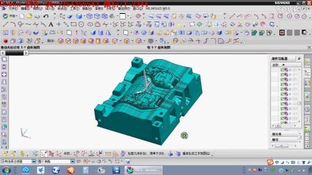 塑胶模具设计第46讲之一个行位抽2个斜行位—Bowen 制作