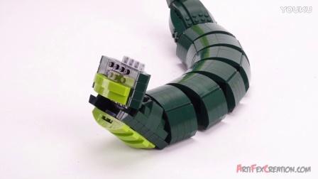 积木砖家乐高Lego Custom Ninjago GREAT DEVOURER SNAKE MOC Speed Build