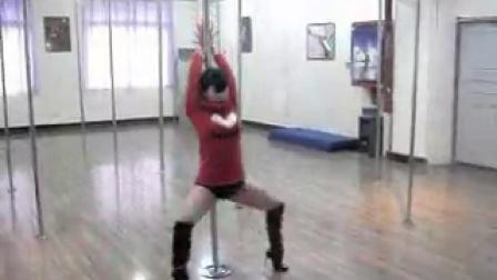 唐玉老师钢管舞技巧示范1