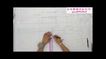 江西服装设计裁剪工艺培训视频教程 b立裁教程 b服装纸样打版制版图纸解析视频教程