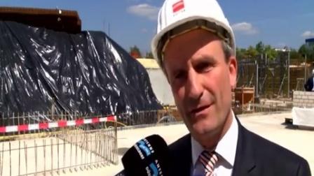 Grundsteinlegung für neues Rheinbahnhaus