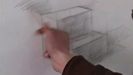 素描基础绘画_素描入门第一课_素描几何体步骤图片