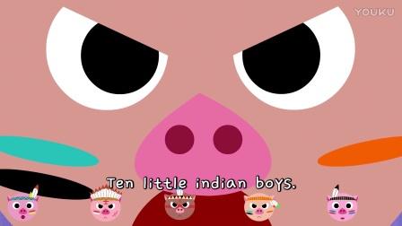 Ten little Indians|经典儿歌|儿歌|经典英语歌|英语儿歌|少儿英语|开思电视|开思儿歌|少儿