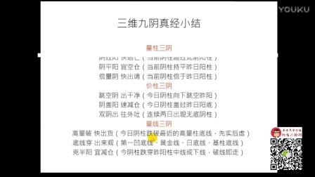 黑马王子 伏击涨停 红k线16 【中级班】第九讲 三维九阴真经(下)