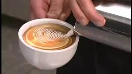 叶型拉花1 咖啡拉花