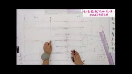 上海东华服装设计裁剪工艺学校 b针织衫纸样打板教程 男装纸样制版教程 b自学服装纸样打版制版视频教程