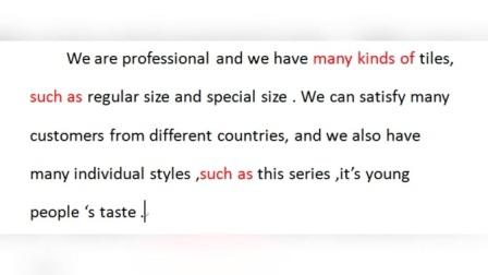外贸出口产品英语营销口语范文