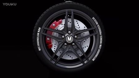 汽车轮胎标志动画 Car Wheel - Automotive Logo 25856