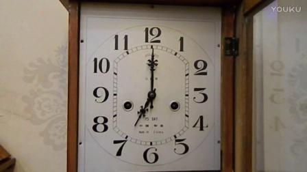北极星机械老挂钟维修好了