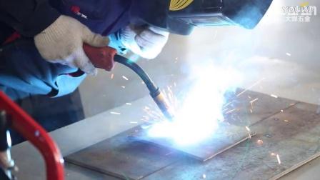 山东大焊NBC-350气体保护焊机二保焊使用方法教程 实际焊接效果