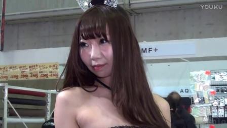 日本美女车模来了  一半裤子