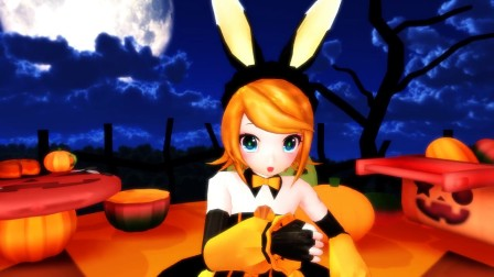 """sm19056351 - [MDD] Bunny Rin-chan does """"Twinkle"""" in a Halloween costum"""