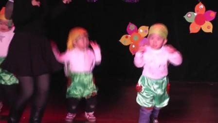 2014元旦太阳花幼儿园小托班学小动物走路舞
