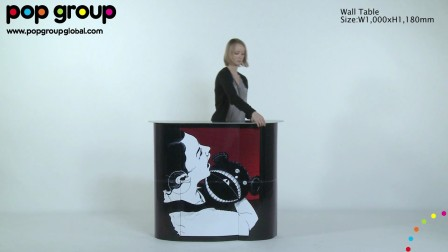 Wall Table (patented display), by POP Group!