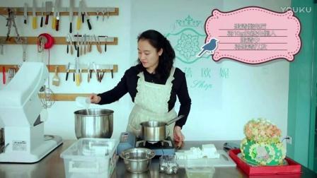 奶油蛋糕装饰裱花制作教程定做蛋糕