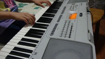 《大海啊,故乡》--电子琴1级入门练习曲