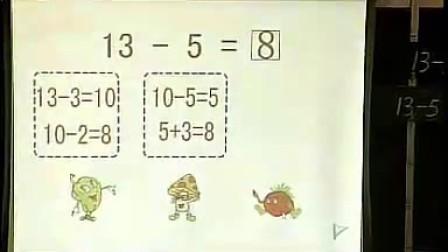 一年级数学十几减6 5 4 3 2小学一年级数学优质课公开课视频专辑