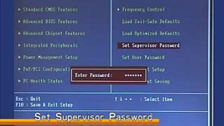 BIOS设置 视频教学12Set Supervisor Password设置