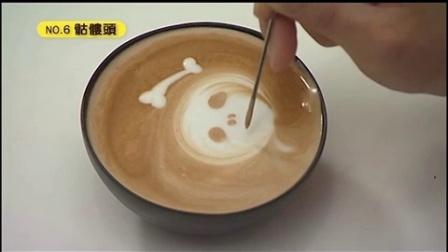咖啡机拉花视频__创意图案