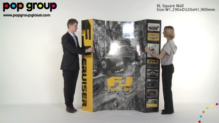 XL Square Wall (patented display), by POP Group!
