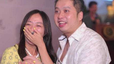 张佳添的「音乐震盪力我们的婚礼主题曲」为庆祝晚宴增添浓厚气氛