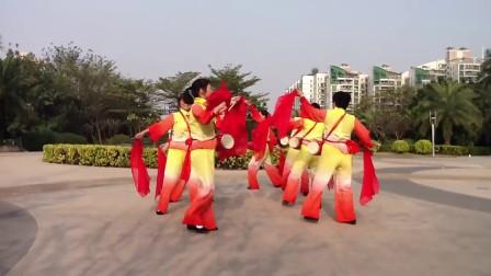 腰鼓舞《好日子》由深圳市宝安区凯旋城腰鼓队表演(原画)