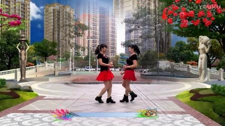 可爱妈妈广场舞双人对跳这一首旧情歌