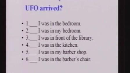 八年级英语优质示范课《Unit3 What were you doing when the UFO