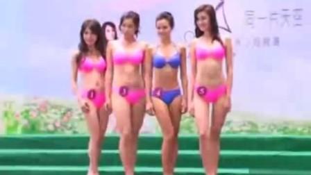 亚姐十八强泳装亮相 香磨五谷 www.gssj.com. cn选手为性感学胸部按摩