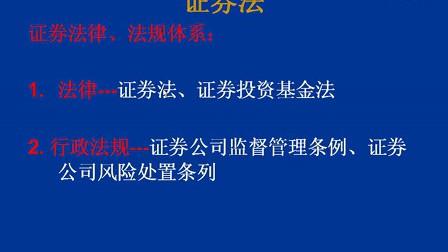 证券法01 楼晓[西安交大]
