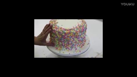 电饭煲怎么做蛋糕金色装饰翻糖彩虹蛋糕