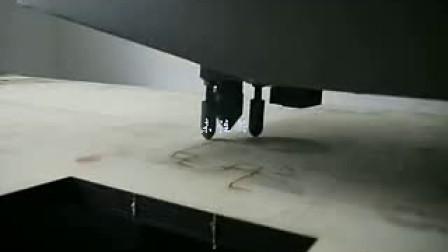 中功率激光刀模切割机切割22MM木板样品