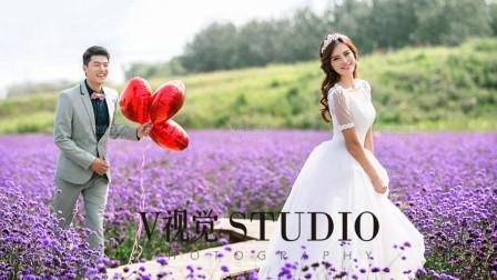 经典的薰衣草婚纱照,北京V视觉摄影