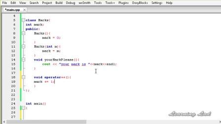 89 - Overloading Increment and Decrement Operators in Prefix form