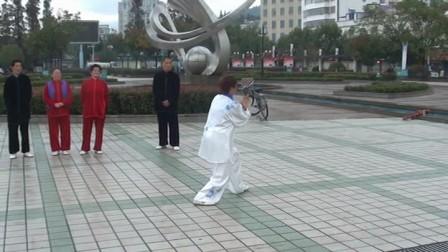 吴式太极拳竞赛套路   演练;安徽省金牌得主-汪桂英