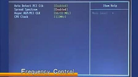 BIOS设置 视频教学9Frequency Control设置