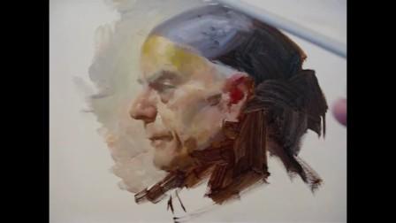 Alla prima portrait painting demo
