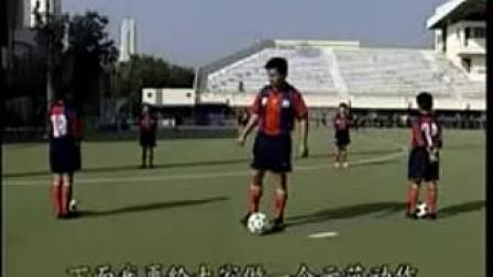 足球视频教学3.前脚掌转身接球