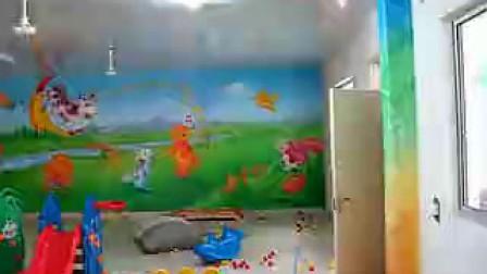 幼儿园墙壁环境布置卡通壁画装饰欣赏图片3,手机13621775829
