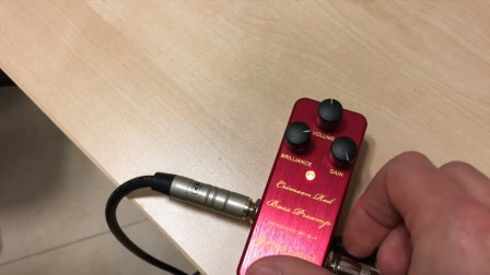 Crimson Red Bass Preamp - One Control