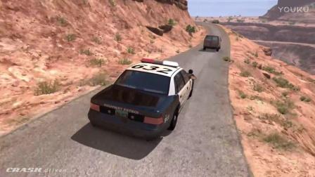 BeamNG模拟警车追捕碰撞