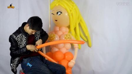 美人鱼完成  汪洋气球原创魔术气球教程