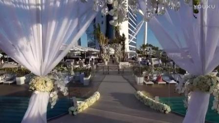 迪拜帆船酒店海上浮台婚礼