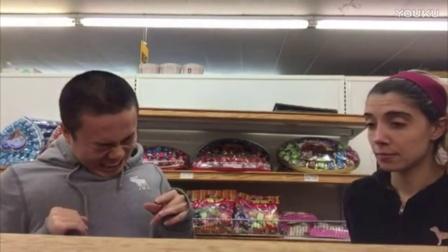 董新尧恶搞2017 【在超市做鬼脸】__搞笑视频逗逼