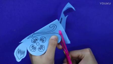 爱乐家园 亲子游戏 蝴蝶简直画 儿童智力手工画 剪纸教学