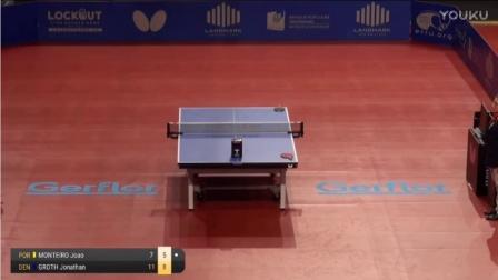 2017国际乒联欧洲TOP16杯赛 男单 分组赛 萨姆索诺夫vs格罗斯 乒乓球比赛视频 完整版
