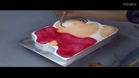 蛋糕裱花基础视频 生日蛋糕裱花寿桃可爱蛋糕