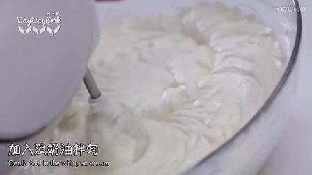 学做美食-美食节目-免烤抹茶芝士蛋糕杯