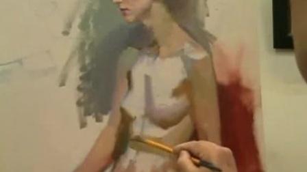 手绘油画女人体示范2/3 www.hui100.com分享