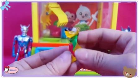 蜡笔小新很会玩夹物机玩具,精灵宝可梦 佩格和小猫 兔八哥